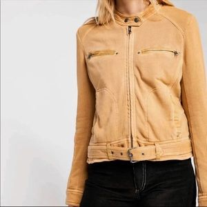 NWOT Free People Ride By Knit Jacket Camel